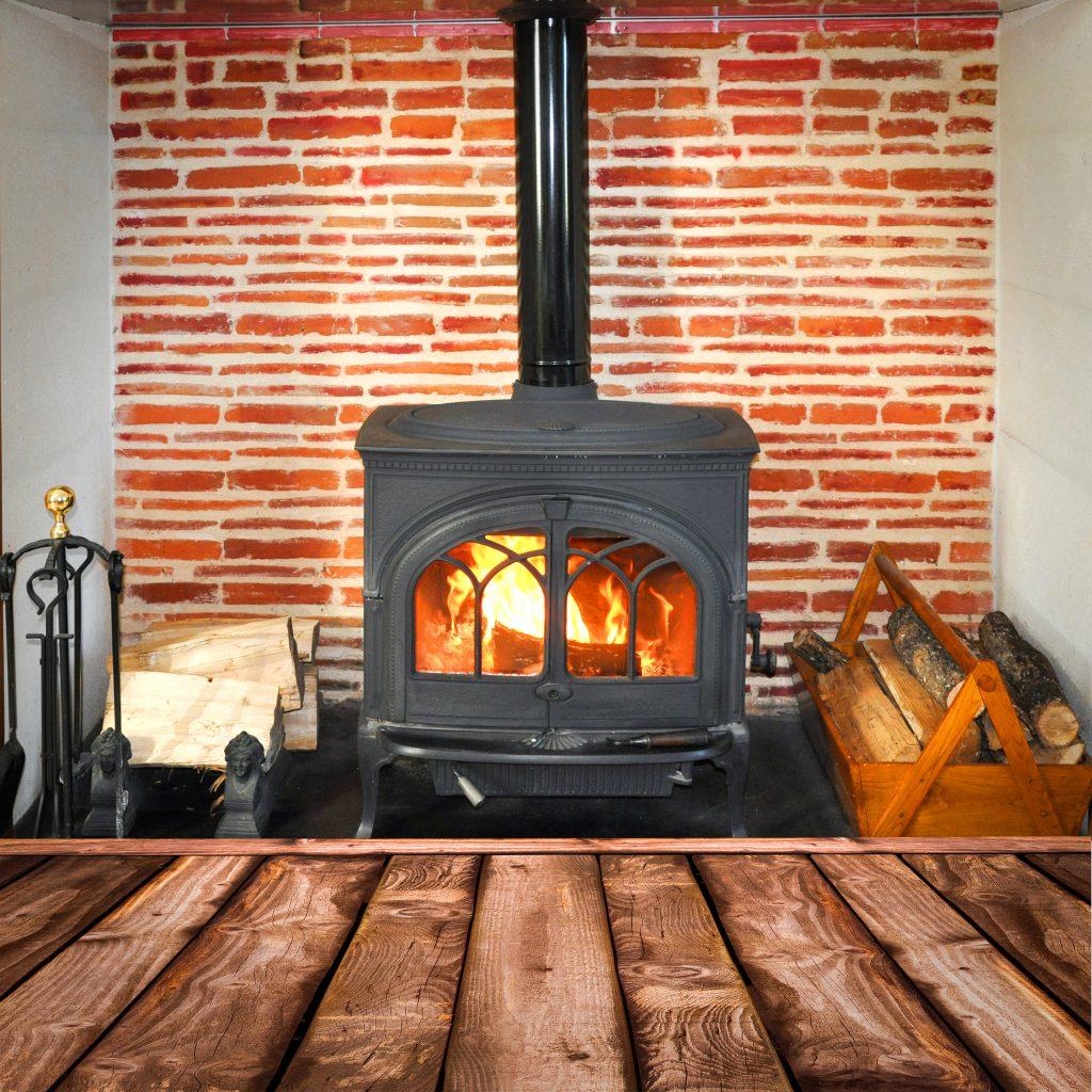 moving wood-burning stove