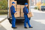 professional movers with boxes