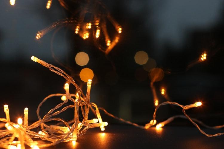 packing christmas lights