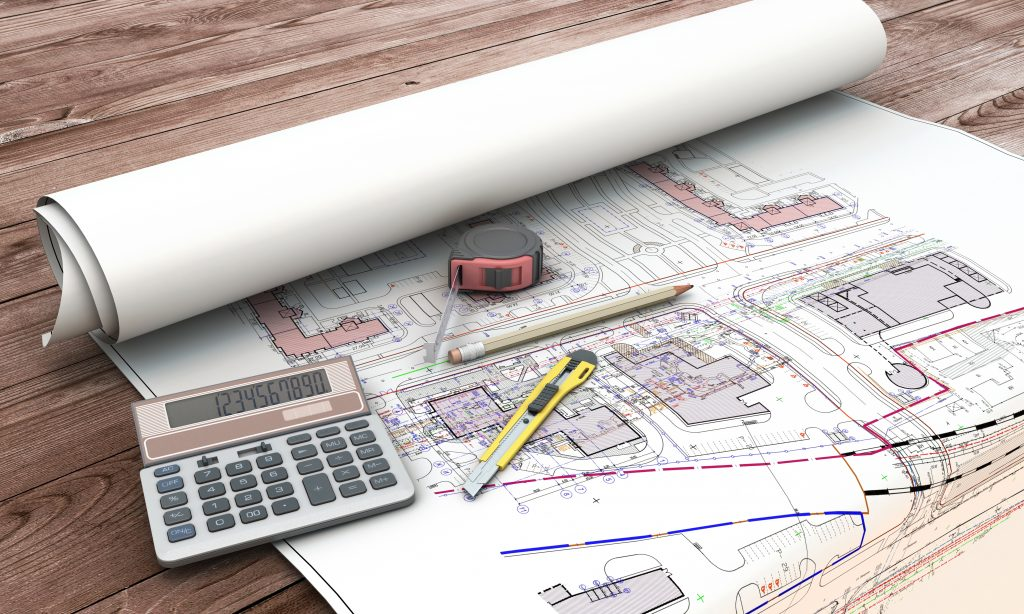 Home extension blueprint plan and tools